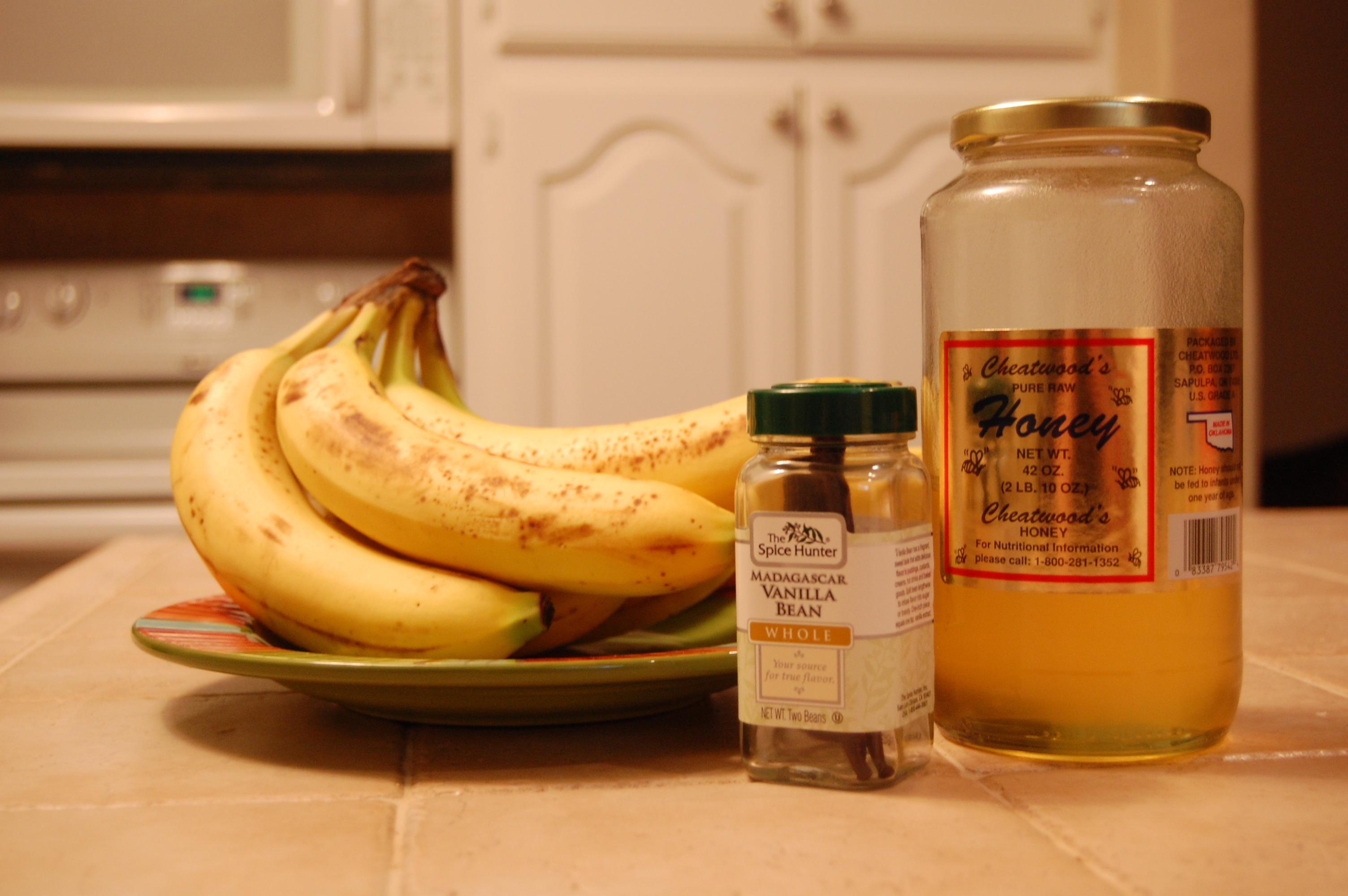 Bananas, Vanilla Bean and Honey