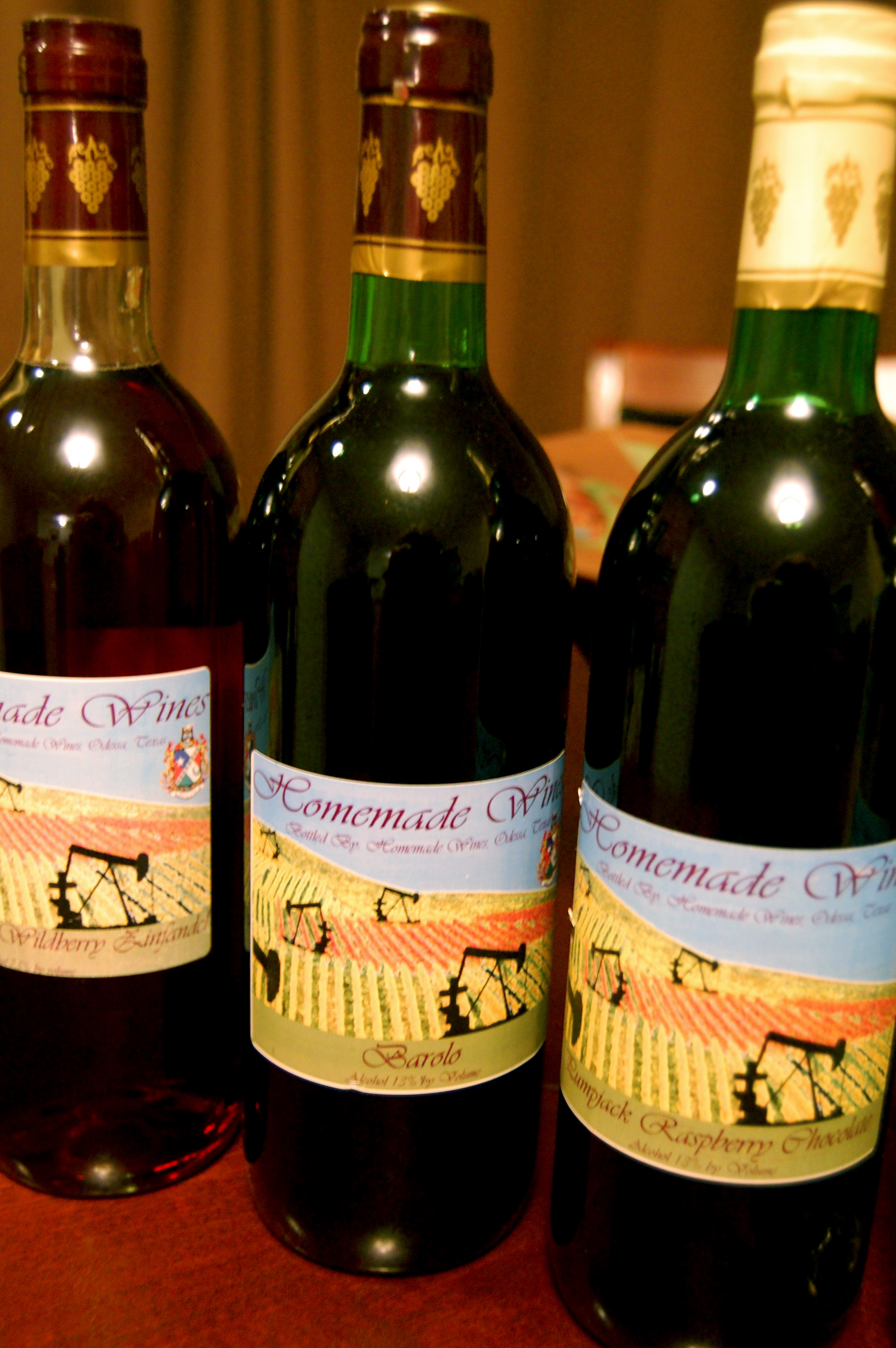 A few of the wines from Homemade Wines of Odessa.